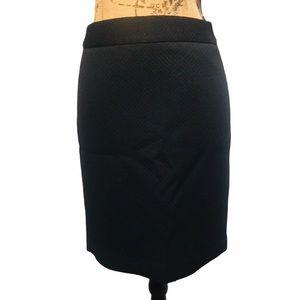 Banana Republic Black Pencil Skirt Petite Size 4